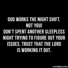 Dont worry because the Lord will work it out!
