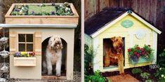 Des niches pour chien, originales et insolites ! Niches, Outdoor Structures, Dogs, Doggies, Animaux, Farm Gate, Pet Dogs