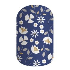 Perennial Blue - Add an elegant touch to your August attire with this month's floral-inspired Sisters' Style design, 'Perennial Blue'. Featuring white whimsy florals with striking gold accents on a navy blue background, 'Perennial Blue' is both eye-catching and understated.