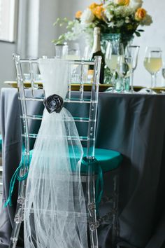 Teal, Yellow & Grey Wedding/ volusiacountyweddings/ www.callaraesfloralevents.com