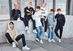 BTS PUMA, bts 2016 ad, bts photoshot v jimin jungkook suga jin jhope rap monster 2016 Namjoon, Seokjin, Bts 2018, Jung Hoseok, Billboard Music Awards, Foto Bts, Fake Instagram, Les Bts, Team Pictures
