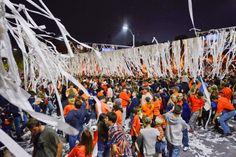 Auburn fans celebrate at Toomer's Corner after the Tigers beat Georgia, 43-38. (Todd J. Van Emst/AP)
