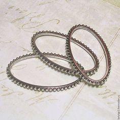 Купить коннектор овал, 42 х 23 мм, цинковый сплав, цвет серебро, 1 шт