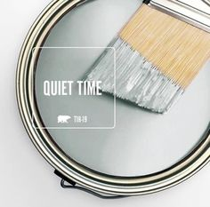 The subtle-yet-soothing gray of Behr's Quiet Time perfectly captures January's contemplative mood, which is why we've selected it as our Color … Interior Paint Colors, Paint Colors For Home, House Colors, Paint Colours, Interior Painting, Interior Design, Bedroom Paint Colors, Nautical Paint Colors, Basement Wall Colors