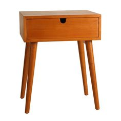 Sleek, simple, and sure to turn heads, the Holland Mid-Century Single-Drawer Walnut Side Table will bring retro charm to any space. The durable solid wood is built to last, while the high quality vene