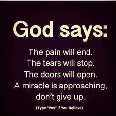 God Says : Inspirational quotes About life and success. Positive Affirmations Quotes, Affirmation Quotes, Prayer Quotes, Bible Verses Quotes, Faith Quotes, Wisdom Quotes, Positive Quotes, Prayer Scriptures, Faith Prayer