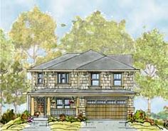 Craftsman Style House Plans - 2309 Square Foot Home, 2 Story, 4 Bedroom and 2 3 Bath, 2 Garage Stalls by Monster House Plans - Plan 10-1694