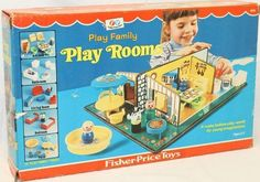 Fisher Price: 1971 Play Family PLAY ROOMS #Vintage #Toys