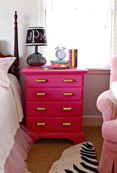 Pink, pink, and hot pink   (25 ideas for painting furniture)