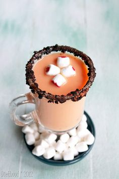 Spiked Pumpkin Pie White Hot Chocolate @Michelle Little ... mine would have to be without the booze...
