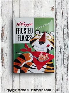 Plaque décorative Kellogg's Frosted Flakes, Nostalgic Art Nostalgic Art, Frosted Flakes, Decoration, Home Decoration, Decor, Decorations, Decorating, Dekoration, Ornament