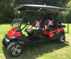 Custom Rebel lifted Club Car Precedent golf cart by King of Carts.  (803) 391-3145
