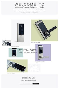 Avent Security manufacture a complete line of door locks and door hardware, which including Digital Door Lock, Hotel door lock, door lever, handle set, mortise, cylinder, and bathroom accessory. Millions of people are using our products.