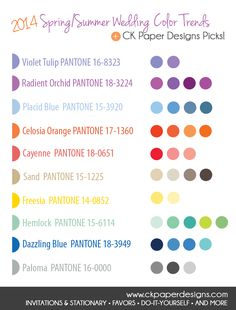 2014 Spring/Summer Wedding Color Trends