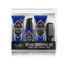 Caring for your beard shouldn't be complicated. For over 15 years, Jack Black has been creating effective skincare for men—pure and simple.   This four-step grooming routine will leave his skin and facial hair looking their best.  1. CLEANSE  All-Over Wash For Face, Hair & Body, 1.5 oz.  With Wheat Protein & Pantheno Keep the beard smelling fresh and feeling clean with this creamy, sulfate-free lather. Use on facial hair to ...