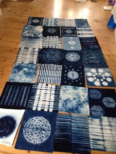 All laid out ... a quilt in the making!