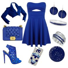 I love blue by alexia7528 on Polyvore featuring polyvore fashion style Miss Selfridge Yves Saint Laurent Steve Madden Chanel Effy Collection Kenneth Cole NARS Cosmetics