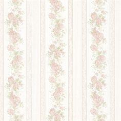 Tasha Pastel Satin Floral Scroll Stripe