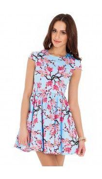 Floral-Skater-Dress-Blue-DR160-5