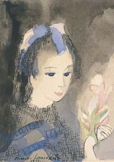 View Jeune fille aux fleurs By Marie Laurencin; watercolor and ink on paper; x 4 in. Access more artwork lots and estimated & realized auction prices on MutualArt. Modern Art, Contemporary Art, Georges Braque, Art Et Illustration, Light Of Life, Art Moderne, Art Studies, French Artists, Portraits