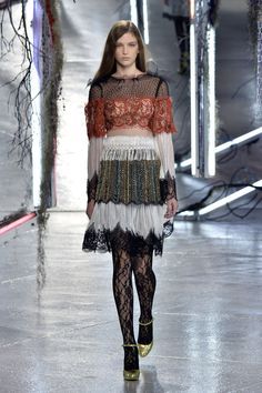 Rodarte staged a glam rock fashion fantasy for SS16 at New York Fashion Week...