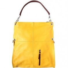 "SOFT LEATHER ""HOBO"" SHOULDER BAG"