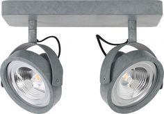 Plafondlamp Spotlight  Dice-2 Led - gegalvaniseerd- Zuiver
