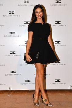 Francesca  #Chillemi #party #presentation #SS14 #MILANO #ITALIA  #dress #ELISABETTAFRANCHI #FW13