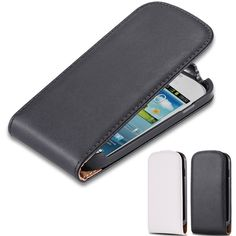 S3 Fundas Vertical Magnetic Chip Flip Real Leather Cover For Samsung Galaxy S3 Mini i8190 Classic Vintage Mobile Phone Cases S3