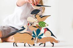Set d'animaux en bois - jouets d'adresse - lesloulousjouent