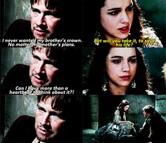 Reign...Bash only wants Mary, he doesn't want the crown or title