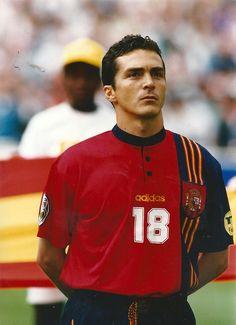 Guillermo Amor antes del Inglaterra-España de la Eurocopa de 1996.
