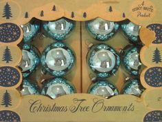 Really pretty old mercury glass ornaments.