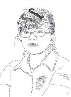 Calligram Portrait Y9 (Ms Holden)