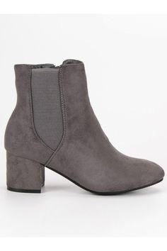 Semišové sivé topánky Top Shoes Timberland, Vans, Platform, Booty, Ankle, Shoes, Fashion, Moda, Swag