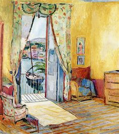 "dappledwithshadow: "" Hans Purrmann (German, 1880 - 1966) """