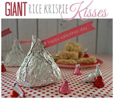 giant rice krispies kisses for valnetines day