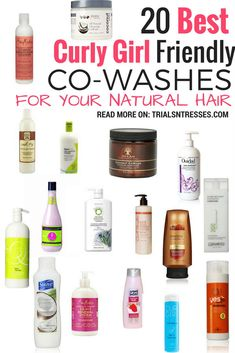If you are a product junkie or just looking for a new way to cleanse we've got 20 curly girl friendly co-washes for your natural hair. 20 Best Curly Girl Friendly Co-Washes For Your Natural Hair. Curly Hair Tips, Curly Hair Care, Natural Hair Tips, Curly Hair Styles, Natural Hair Styles, Products For Curly Hair, Curly Hair Shampoo, Style Curly Hair, Curly Hair Routine