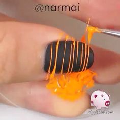 Beauty. Nails. Nail Art. How To. Black. Matte. Nail Designs. @Narmai spotted via @nailsartvidss's video on Instagram