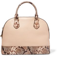 MICHAEL Michael Kors Smythe textured and snake-effect leather tote