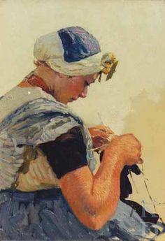 Hans von Bartels Breiend Zeeuws meisje 1870-1913 Zuid-Beveland