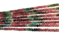 """Excited to share the latest addition to my #etsy shop: Natural Tourmaline Beads, Gemstone Beads, Wholesale Tourmaline, Multi Color Watermelon Tourmaline Beads, Bulk Gemstone Beads, 13.5"""" Strand"""