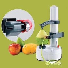 electric stainless steel fruit peeler(buy 1 get 10 off - The world's most private search engine Cool Kitchen Gadgets, Home Gadgets, Cooking Gadgets, Kitchen Hacks, Kitchen Tools, Cool Kitchens, Bedroom Gadgets, Office Gadgets, Spy Gadgets
