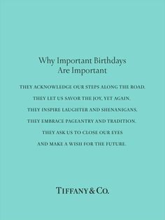 Never made a big deal of my birthday... This really makes me think we all should. It's the only true day we get that is ours to reflect and look forward. Hmmm...