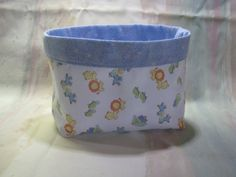 """These little fabric baskets are so handy!   You can use them for """"whatever"""" all over the house.   This one is made in a baby print,…"""