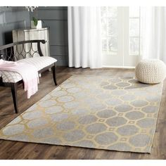 Safavieh Handmade Cedar Brook Grey/ Gold Jute Rug (5u0027 ...