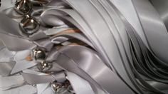 150   Wedding Wands with two  Ribbons With a Silver by tiasdresses, $150.00