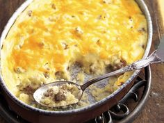 Sausage and Cheese Grits Casserole. A good 'ole Southern brunch recipe.