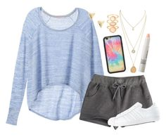 """""""Untitled #1153"""" by ibthal-hussain ❤ liked on Polyvore featuring Victoria's Secret, Wildflower, ki-ele, Make, Monsoon and adidas"""