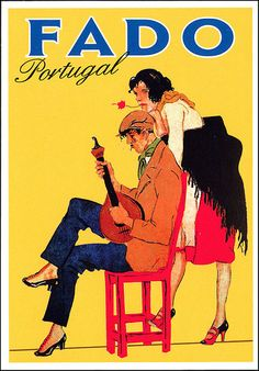 postcard - Portuguese Fado | par Jassy-50 Vintage Posters, Vintage Photos, Beyond Beauty, Portugal Travel, Andalusia, Yellow Background, Travel Posters, Portuguese, Travel Inspiration